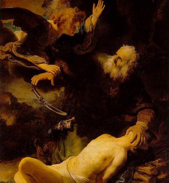 Abraham e Isaac1634Óleo sobre lienzo, 158 x 117 cm (62 x 46 in);Hermitage, St. PetersburgRembrandt Harmenszoon Van Rijn