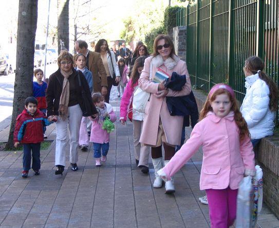 Familias que van llegando