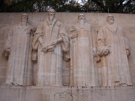 Monumento a los reformadores.Ginebra, Suiza