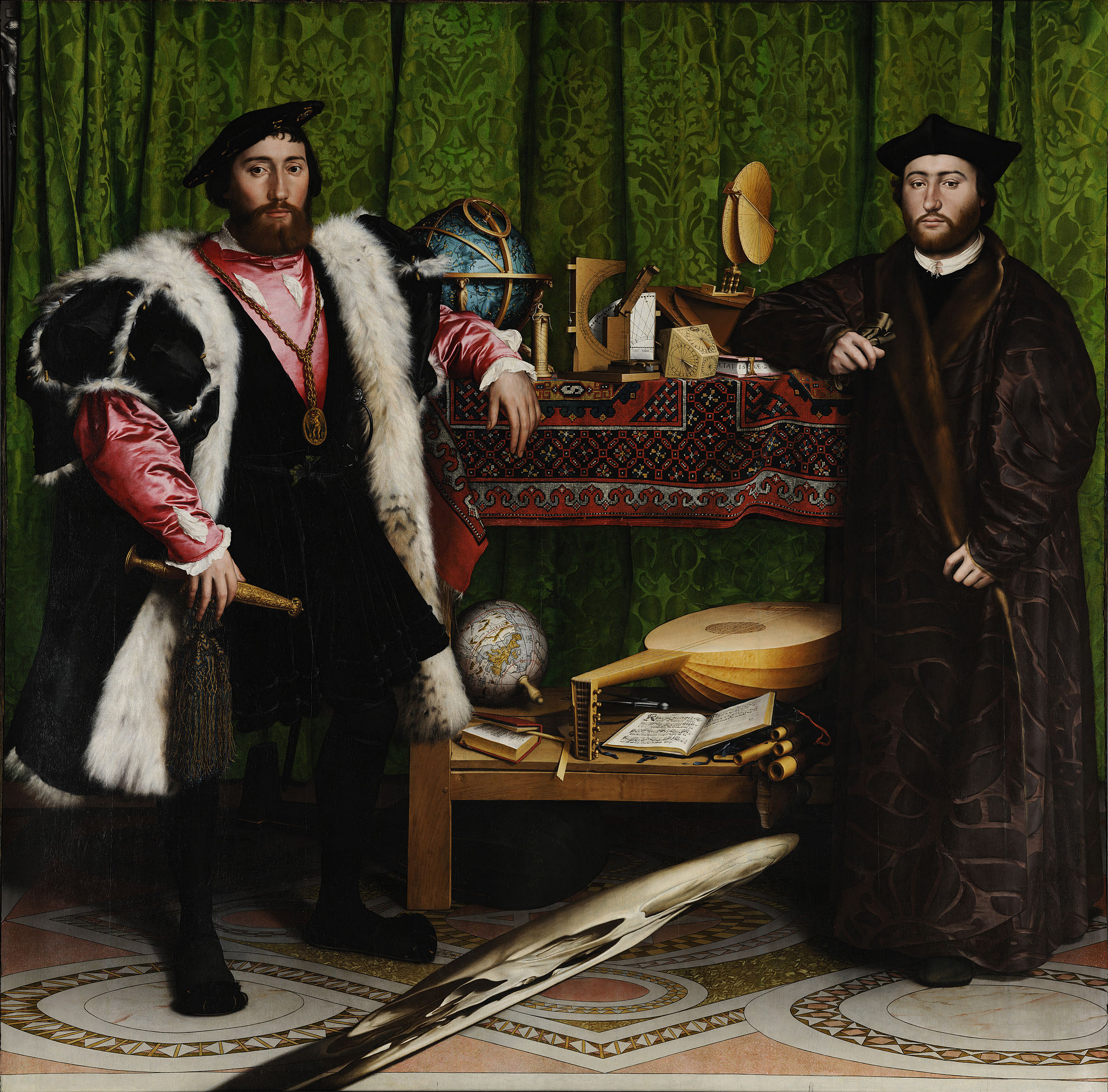 Los Embajadores, Hans Holbein the Younger.